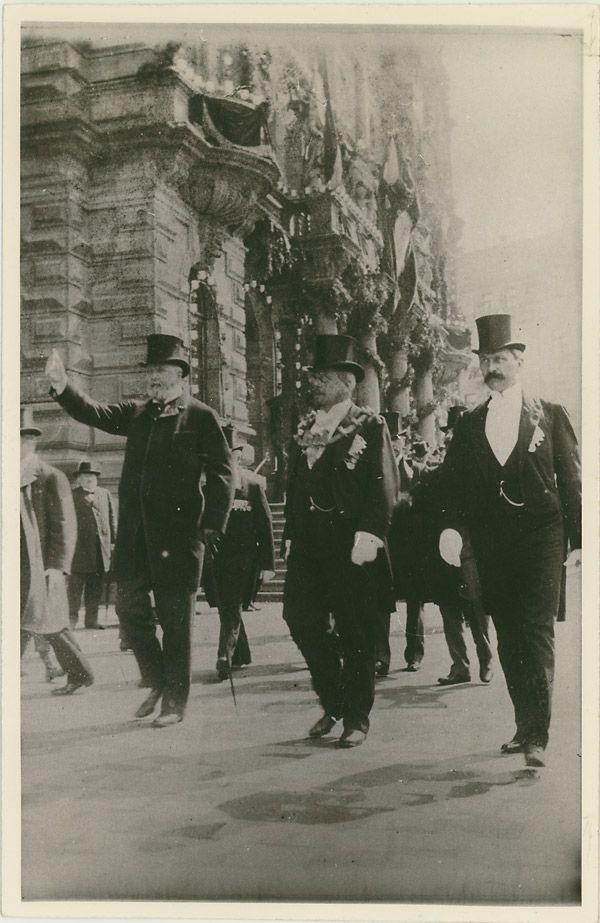 1902 Besuch König Oskar von Schweden