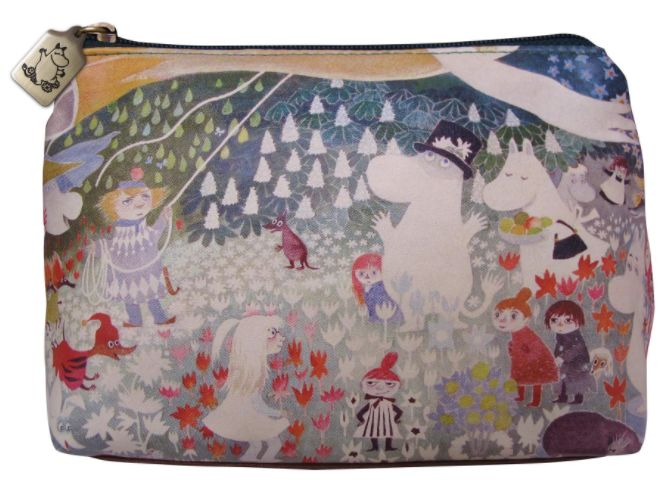 Disaster Designs Moomin Dangerous Journey Cosmetic Make Up Bag   This charming Disaster Designs Moomin Cosmetic Make Up Bag is the perfect little storage bag for your cosmetics and make-up accessories and is ideal to keep at home, to carry around in your handbag or for weekends away!