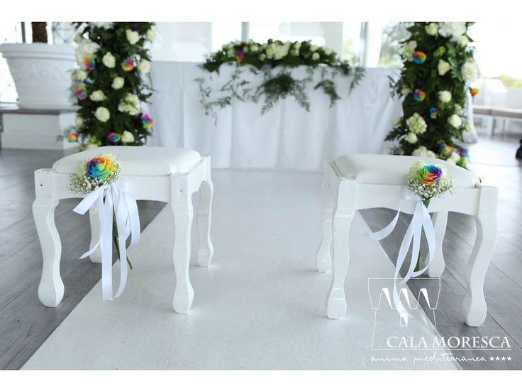 Dettaglio WEDDING tema RAINBOW calamoresca.it