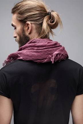 Zadig & Voltaire  Love this overdyed scarf.