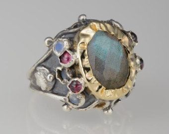 Unieke verlovingsring Gift Caterina Ring gouden en door yifatbareket