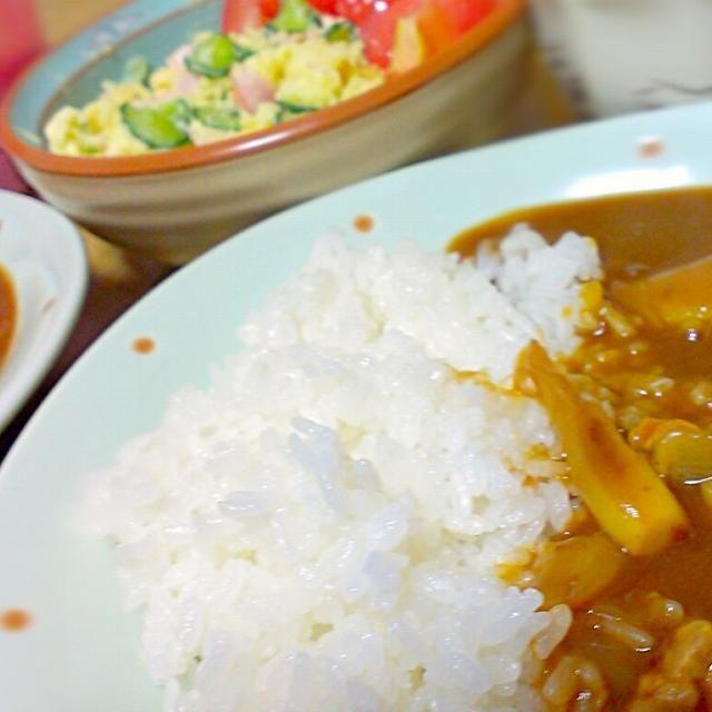 おいしかったねぇーー☆ - 8件のもぐもぐ - カレー&ポテトサラダ☆ by fujifabric11