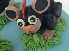 The Cake Lab Ranelagh, Dublin, Ireland, Artisan Baking Studio. Bespoke Wedding Cakes. Pokemon Litleo cake topper.