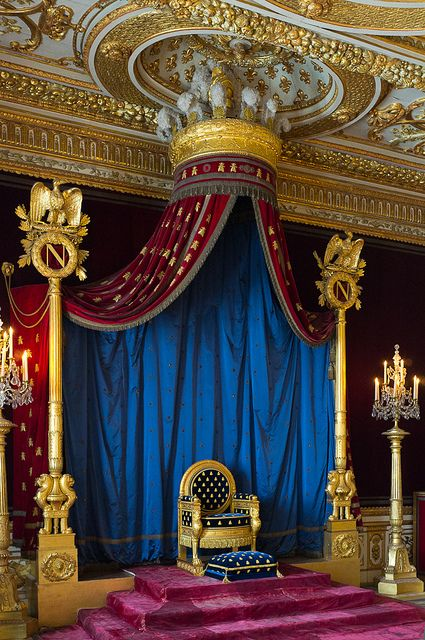 Napoleon's Throne at Chateau de Fontainebleau | France