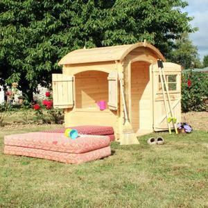 SOULET Maisonnette bois PATTY L. 1,34 x P. 1,03 m Haut. 1,43 m - Maison enfant - Achat / Vente maisonnette extérieure - Cdiscount