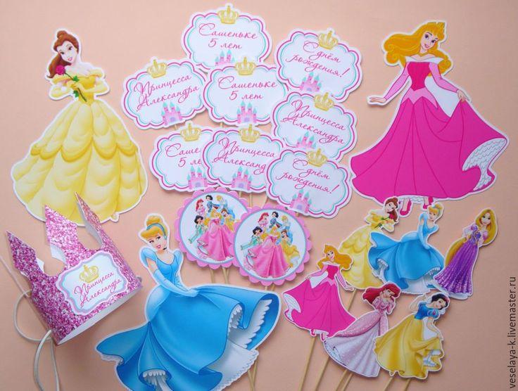 """Купить Детский день рождения в стиле """" Принцессы Диснея"""" - на день рождения набор"""