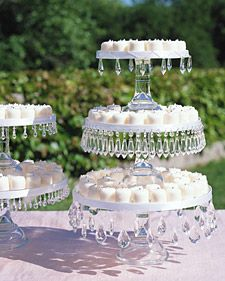 DIY cake/pie stands: Cupcake Stands, Cakes Plates, Beads, Teas Party, Martha Stewart, Jewels Cakes, Cups Cakes, Cakes Stands, Weddings Idea