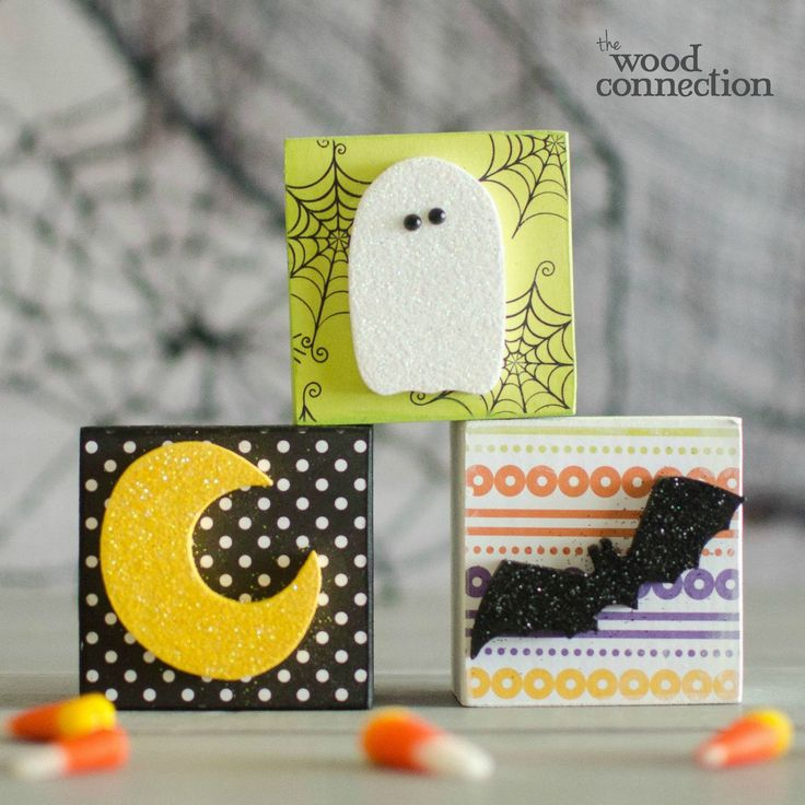 The Wood Connection - Halloween Block Trio, $4.50 (http://thewoodconnection.com/halloween-block-trio/)