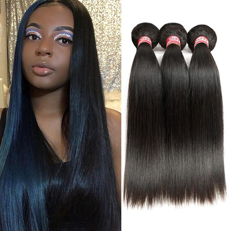 Sleek Malaysian Straight Hair 4 Bundles Deal 10 to 28 Inch Non Remy Straight Hair Weave Extension Double Weft Human Hair Bundles