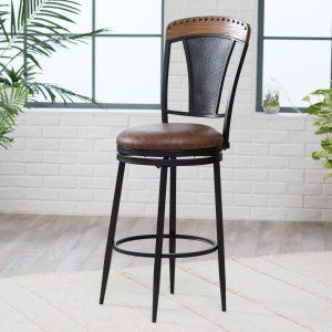 Martha Bonded Leather Bar Stool Bar Stools at Hayneedle