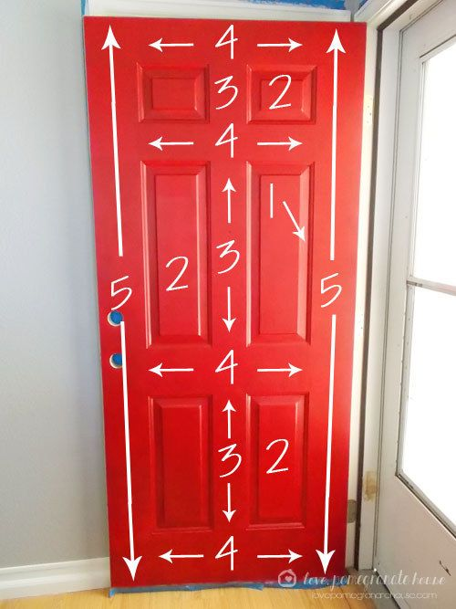 Here's the best way to paint a storm door: | 39 Budget Curb Appeal Ideas That Will Totally Change Your Home