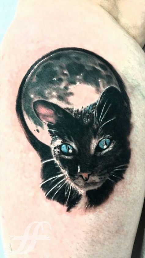 Amazing and Realistic 3D Cat Tattoos - http://www.mustlovecats.info/amazing-and-realistic-3d-cat-tattoos/