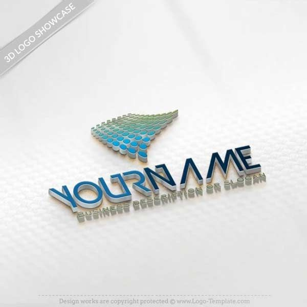 Create 3d Wave Logo Templates With Our Free 3d Logo Maker Logo Design Inspiration Vintage Vintage Logo Design Create A Business Logo