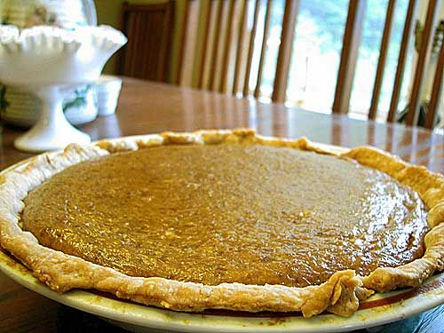 Cushaw Squash Pie- better than pumpkin.  Finally found some at a pumpkin patch this year! I am so excited to try it!!!