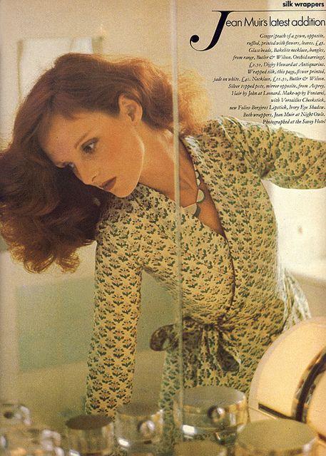 Grace Coddington, Vogue, September 1973 by emmapeelpants on Flickr.Clothes by…