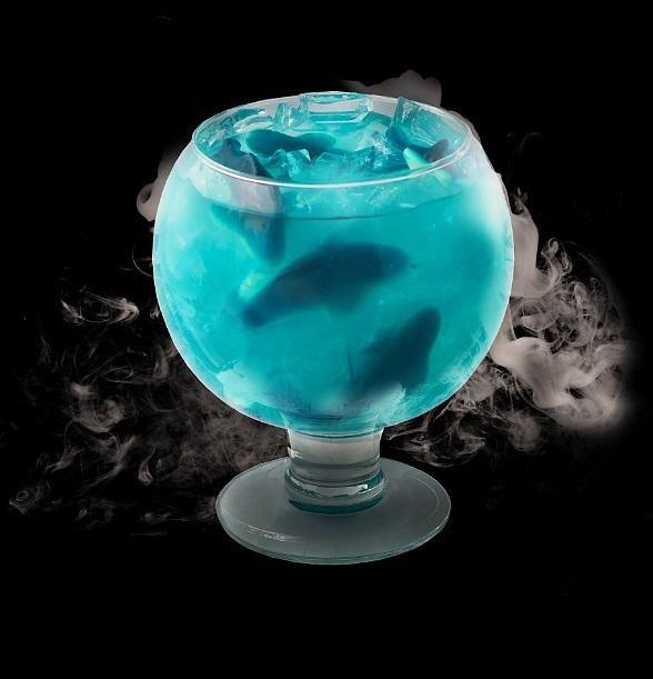 *The 'Oceans Blue Cocktail* (Sugar Factory Paris Las Vegas) Hypnotiq, Blueberry Vodka,