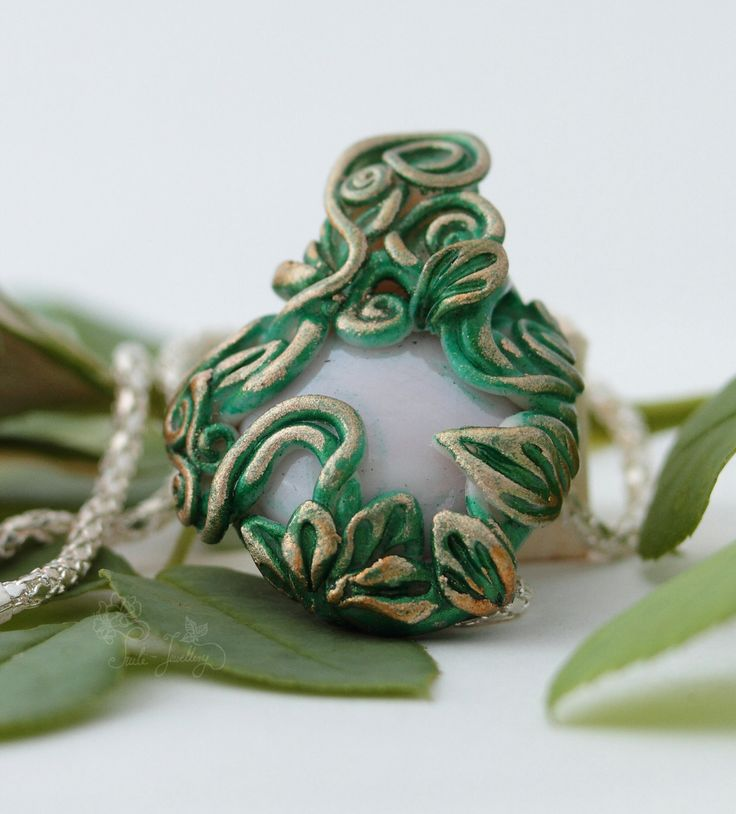 Emerald necklace by Tuilejewellery on Etsy