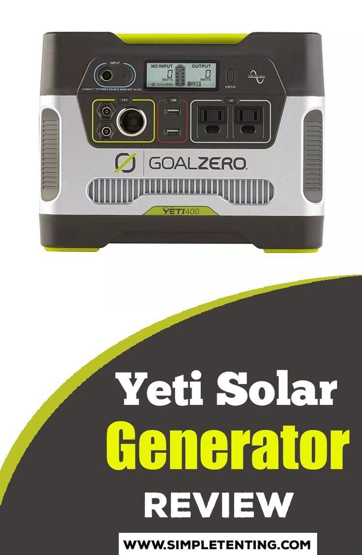 Portable Yeti Solar Generator Review Solar Generator Best Solar Panels Camping Generator