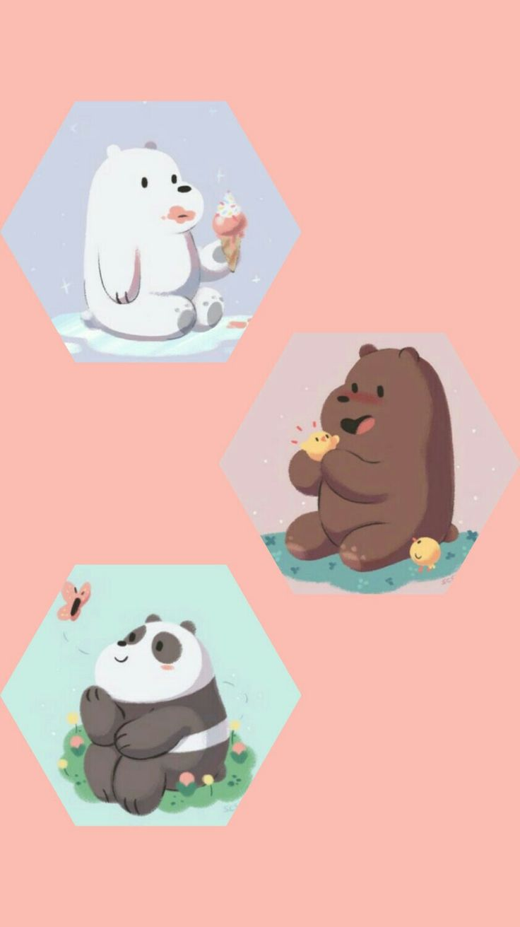 "I'm obsessed with how aesthetic ""Wr Bare Bears"" areeeee"