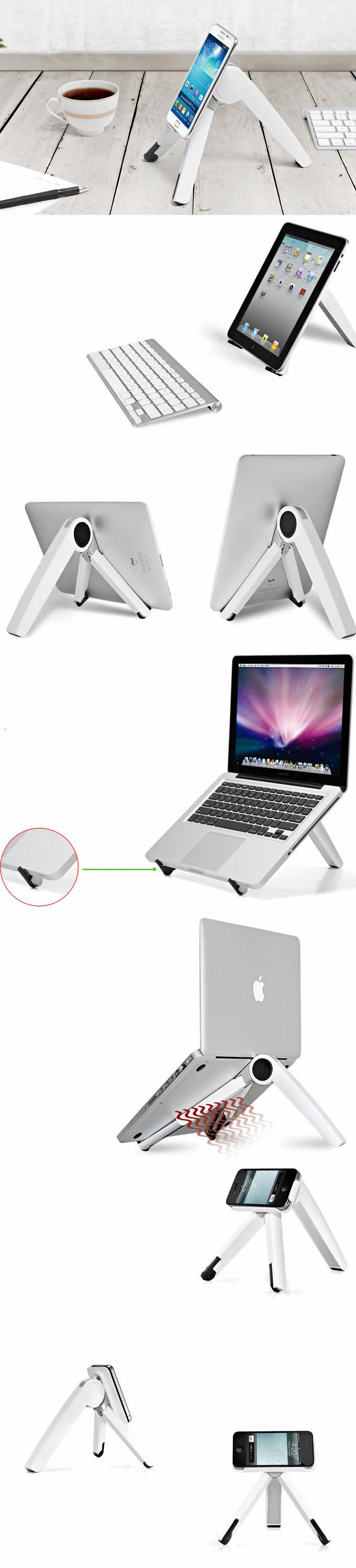 Adjustable Aluminum Alloy Universal Laptop Notebook iPad Smartphone Stand Holder