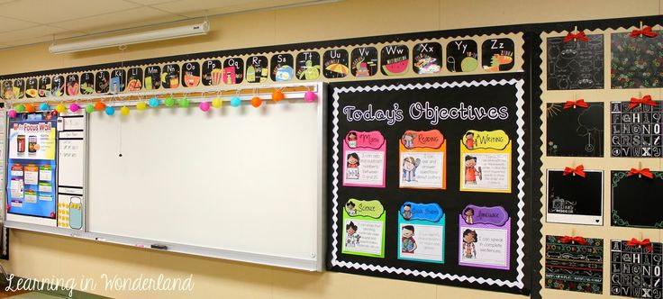 Learning in Wonderland Woodland Wonderland! So many great display ideas in this bright and beautiful classroom!