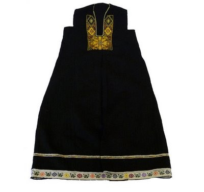 Traditional folk costume from Strandja,  Bulgaria. Strandzha is a mountain massif in southeastern Bulgaria and the European part of Turkey, in the southeastern part of the Balkans between the plains of Thrace to the west, the lowlands near Burgas to the north and the Black Sea to the east.