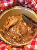 Uit mijn keukentje: Kip-stoofschotel met appel, abrikozen en kaneel