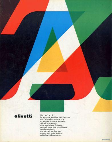 Olivetti - Swiss advertisement designed by Giovanni Pintori, 1964