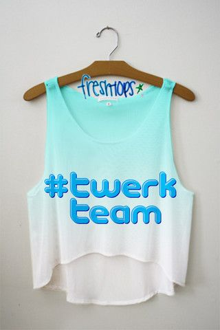 #Twerk Team Crop Top - Fresh-tops.com