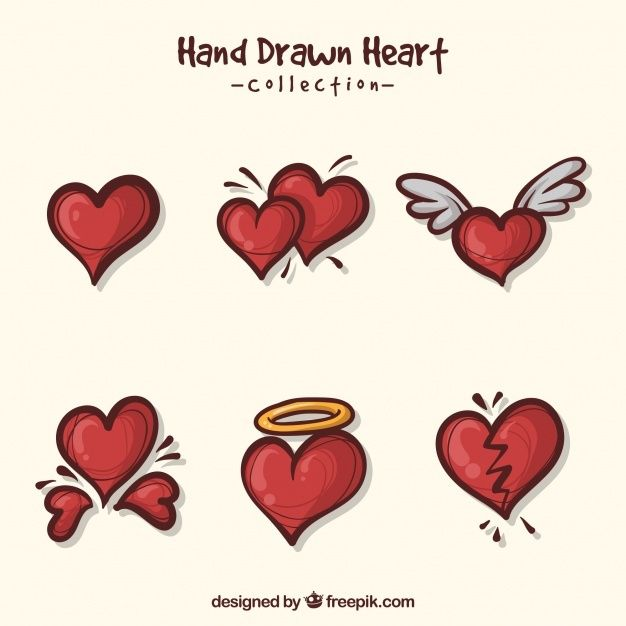 Pack Of Pretty Hearts Free Vector Freepik Freevector Heart Love Hand Hand Drawn In 2020 Vector Free Heart Hands Drawing How To Draw Hands