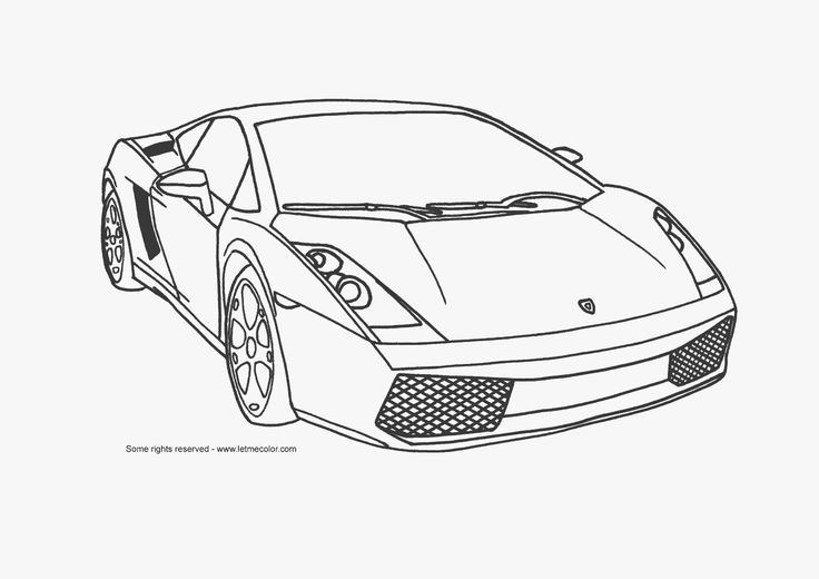 Drawings of Cars to Print | Printable coloring pictures of sports cars