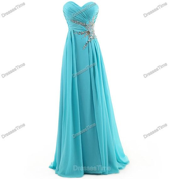 Long prom dress  blue evening dress / long party by dressestime, $119.99