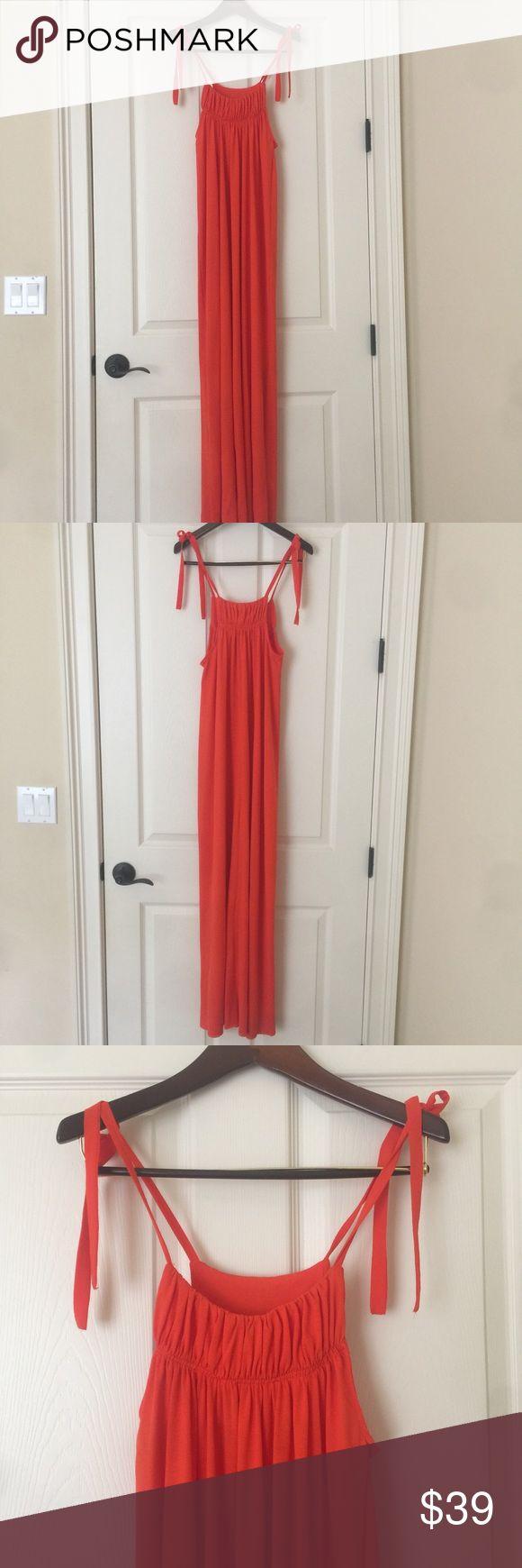 Zara orange maxi dress size small. NWOT Super cute Zara orange maxi dress size small. Never has been worn. NWOT Zara Dresses Maxi