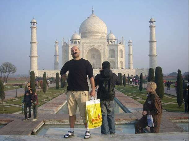 Polish tourist in India