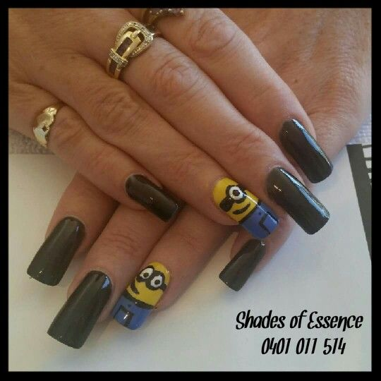 Minion nails, nailart