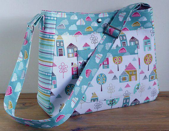Petite Street Diaper Bag - PDF Sewing Pattern + Attaching an Adjustable Strap                                                                                                                                                                                 More