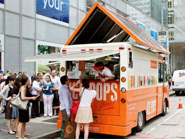 Seriously in love with this idea...solar powered free popsicle truck in NYC.  From @blackeiffel - i love it!