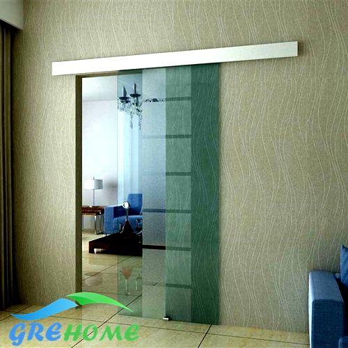 Sistema in lega di alluminio frameless fienile porta scorrevole in vetro