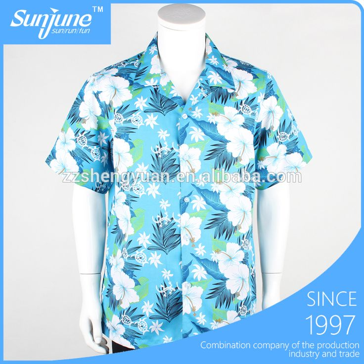 Mens beach wear printed aloha hawaiian shirts cheap