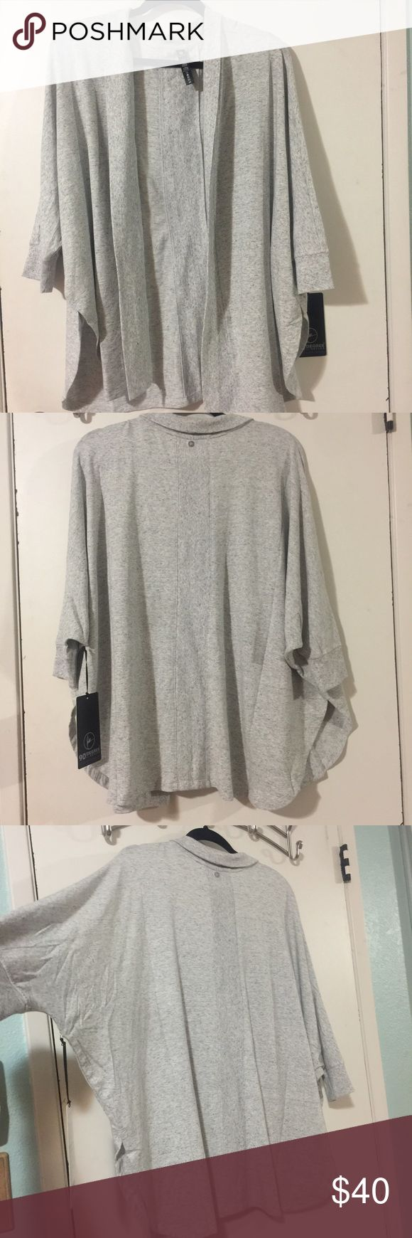 NWT - Heather Grey Sweater (L) For those chilly mornings or keeping you chic after the gym, this versatile sweater is suuuper soft and perfect for keeping you looking pulled together! 90 degrees Sweaters Cardigans