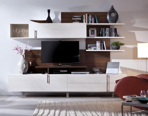 17 best images about tv units and media systems on for Modern tv shelf for living room