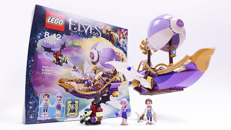 LEGO ELVES Aira's Airship & the Amulet Chase - LEGO 41184 Speed Build - YouTube