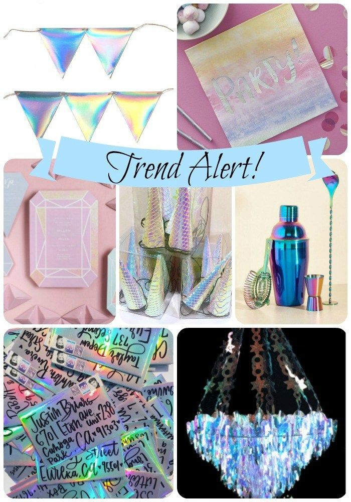 Trend Alert Iridescent Holographic Party Quinceanera