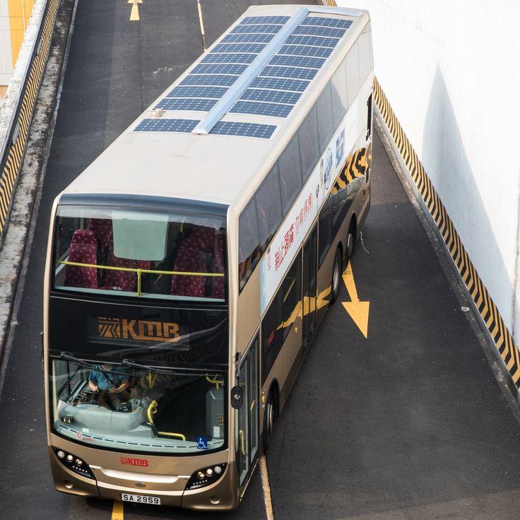 車頂設有太陽能電池板九巴測試全新環保巴士 - UNWIRE.HK