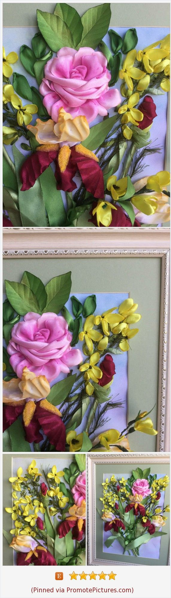 Ribbons Embroidery flowers irises Embroidered pictures Memorable gift Luxury picture in house 3D Effect picture Elite picture Original art Style interior Bohho chic https://www.etsy.com/LucysRibbonCreations/listing/559005881/ribbons-embroidery-flowers-irises?ref=shop_home_active_29  (Pinned using https://PromotePictures.com)