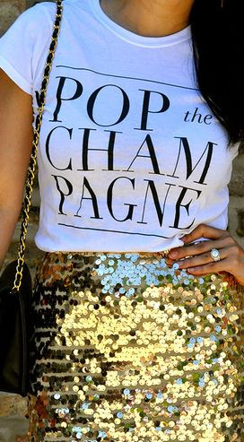 POP THE CHAMPAGNE! Need this for New Year's Eve!!: