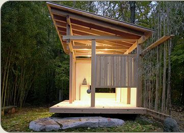 Ceremonial Japanese teahouse designed by award-winning Yale Architectural graduate Naomi Darling.