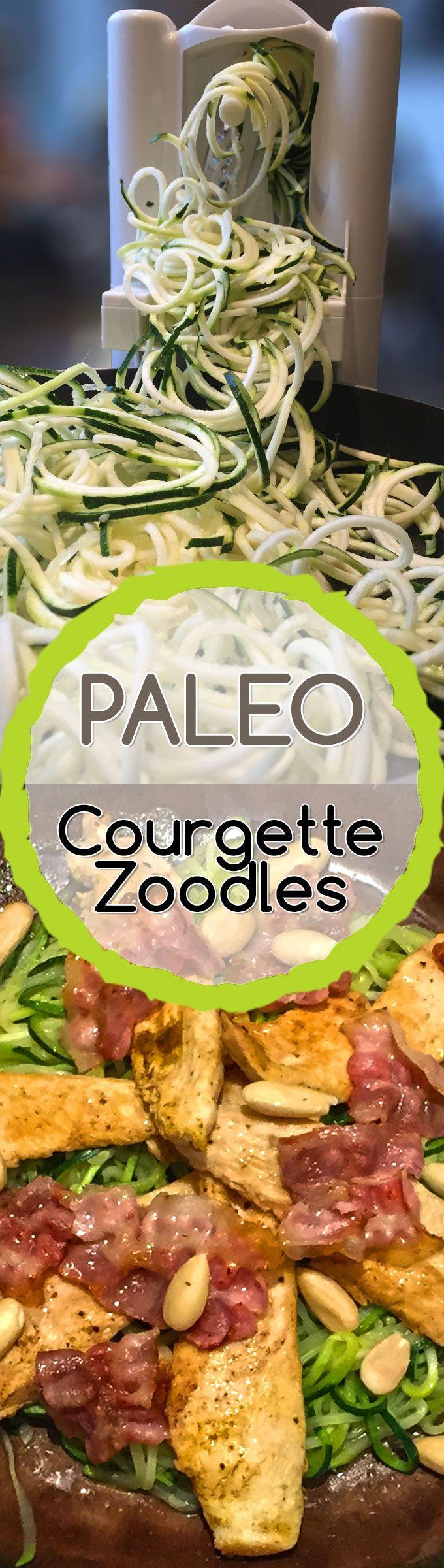 #PALEO #COURGETTE #ZOODLES MET KIP: Zoodles = zucchini (courgette) in de vorm van noedels, de perfecte oplossing om spaghetti vol gluten en zetmelen te vervangen. Mijn Spiraliser van Hemsley doet overuren, wat een fantastisch geschenk van mijn man! Ik kan nu van vele groenten spaghetti, linten of krullen maken in (letterlijk) 2 minuten tijd.