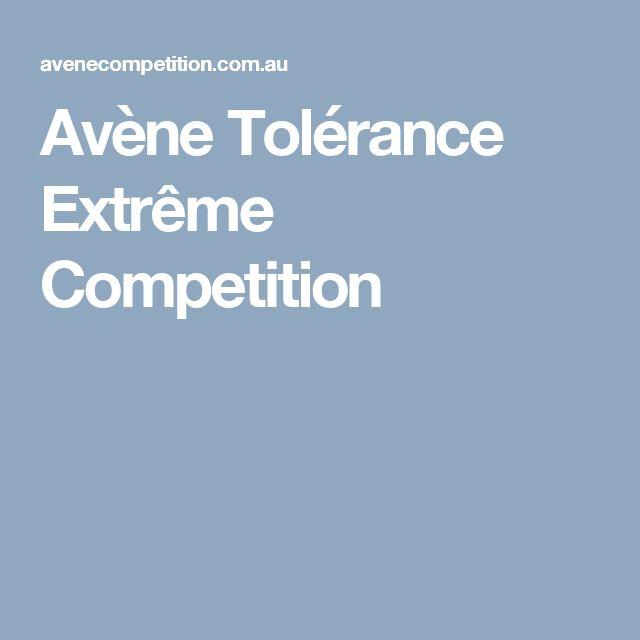 Avène Tolérance Extrême Competition