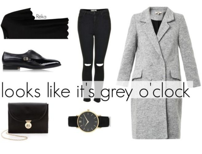 Looks like it's grey and black o'clock!